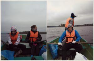На лодках по озеру Вуокса