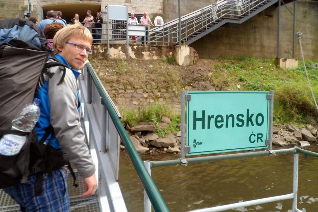Паром из Германии в Чехию