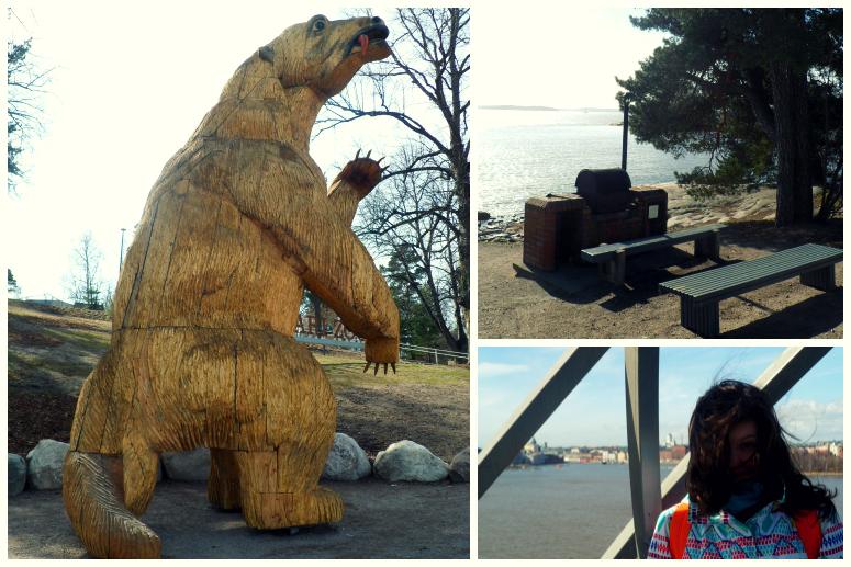 Зоопарк: странный медведь, место для шашлыков, обзорная площадка