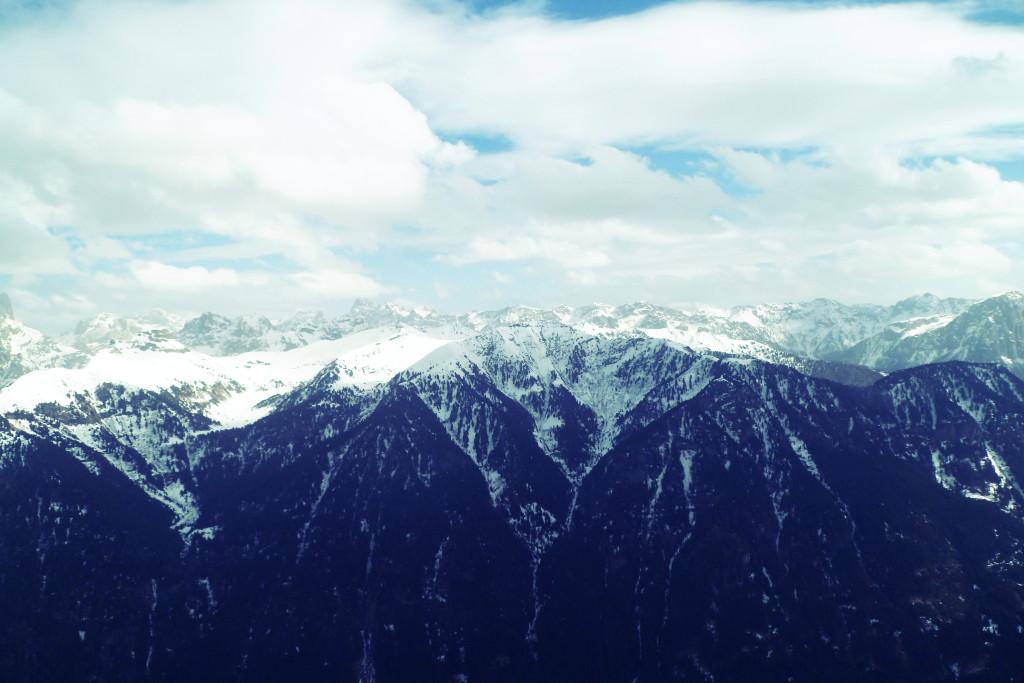 Вид на Доломитовые Альпы