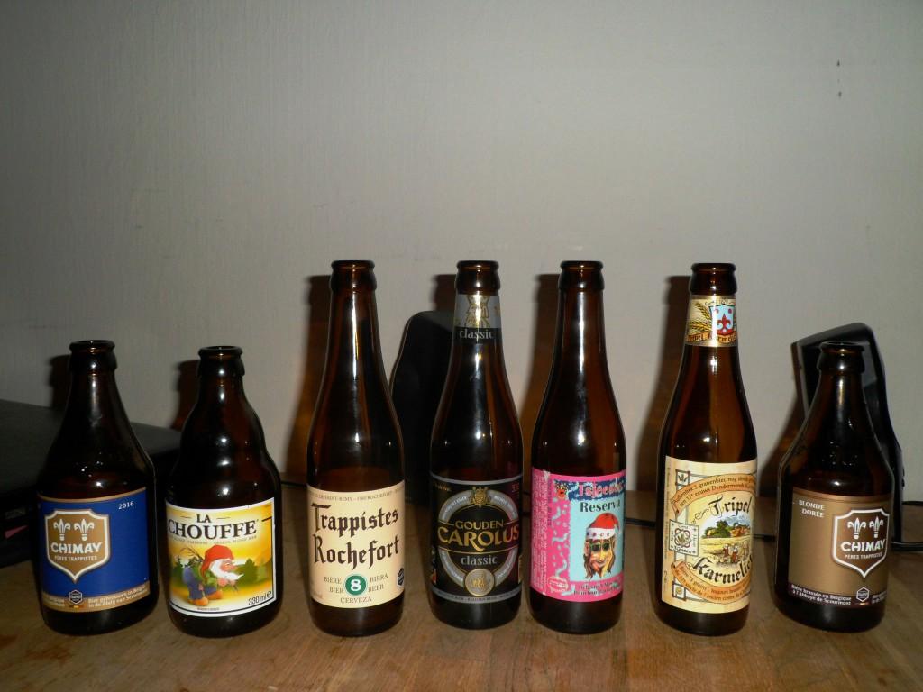 Наш групповой рейтинг бельгийскоо пива (справа наиболее понравившееся), которое можно легко найти магазине
